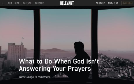 WHAT TO DO WHEN GOD ISN'T ANSWERING YOUR PRAYERS